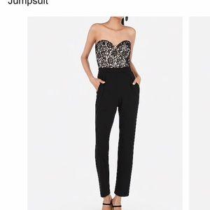 Black lace bodice jumpsuit